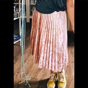 a new day velour crepe mid length skirt